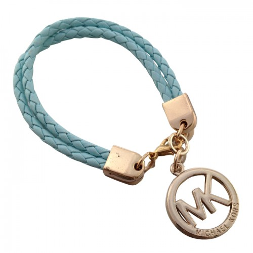 Michael Kors Braided Logo Blue Bracelets