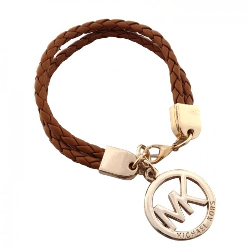 Michael Kors Braided Logo Brown 005 Bracelets