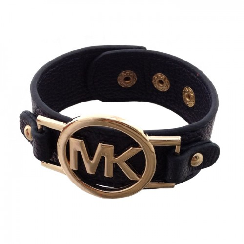 Michael Kors Leather Logo Navy Bracelets