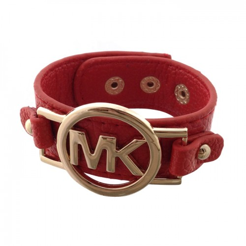 Michael Kors Leather Logo Red 005 Bracelets