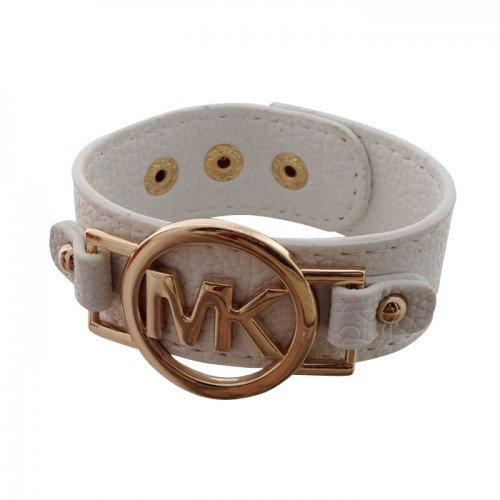 Michael Kors Leather Logo White Bracelets
