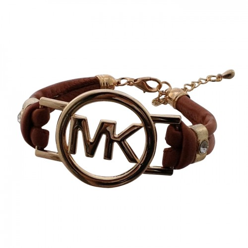 Michael Kors Skinny Logo Chain Brown Bracelets