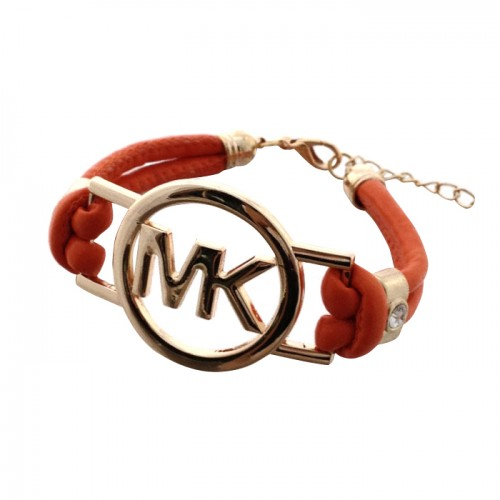 Michael Kors Skinny Logo Chain Orange Bracelets
