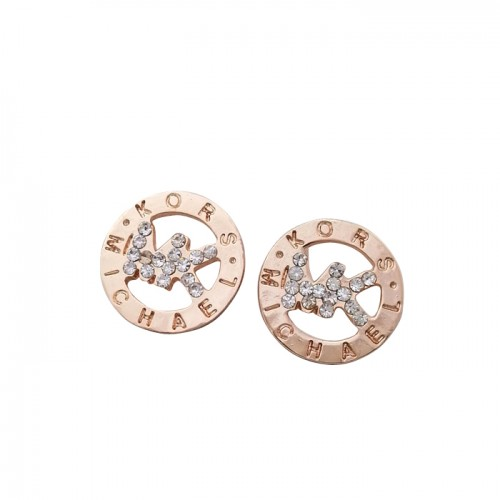 Michael Kors Slice Logo Golden Earrings