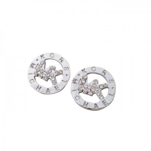 Michael Kors Slice Logo Silver Earrings