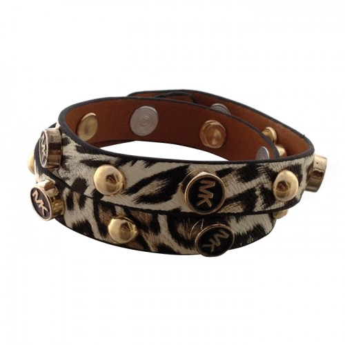 Michael Kors Tiger Tattoo Leather Beige Bracelets