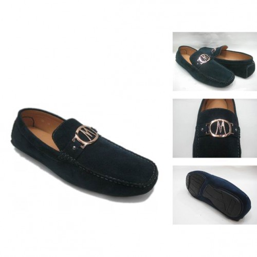 Michael Kors Suede Logo Flat Large Navy 51 Shoes