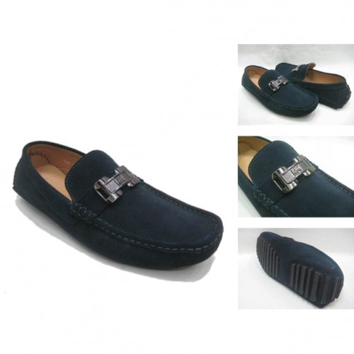 Michael Kors Suede Logo Flat Large Navy 82 Shoes