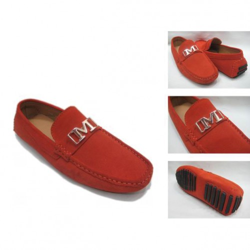 Michael Kors Suede Logo Flat Large Red Shoes