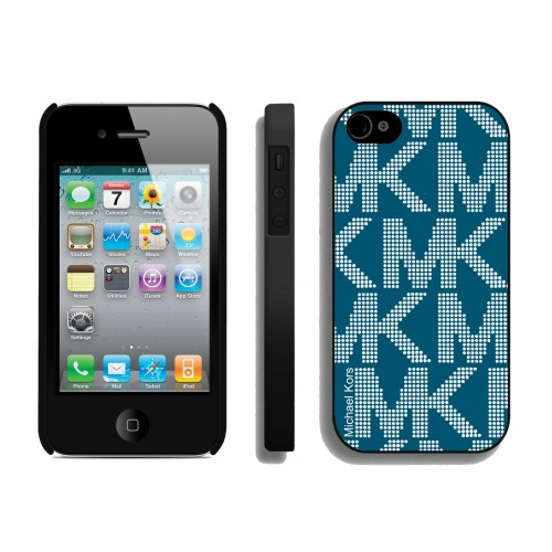 Michael Kors Big Logo Signature Blue iPhone 4 Cases