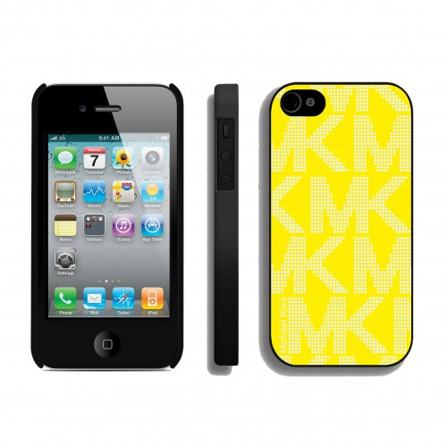 Michael Kors Big Logo Signature Yellow iPhone 4 Cases