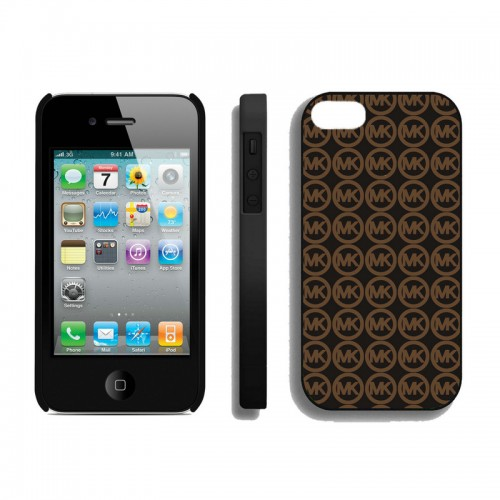 Michael Kors Logo Monogram Brown Black iPhone 4 Cases
