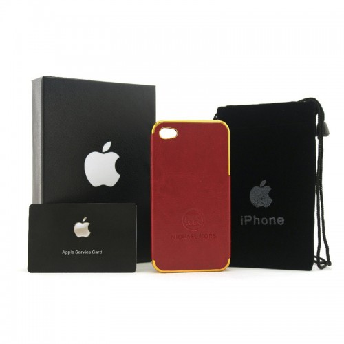 Michael Kors Logo Red 005 iPhone 4 Cases