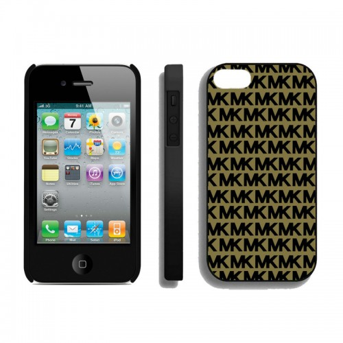 Michael Kors Logo Signature Beige Black iPhone 4 Cases