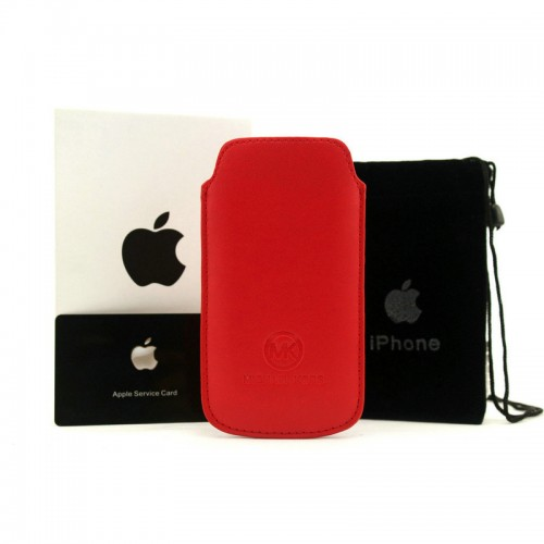 Michael Kors Saffiano Red 005 iPhone 5 Cases