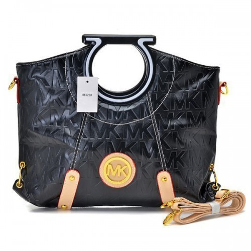 Michael Kors Berkley Logo Large Black 002 Clutches