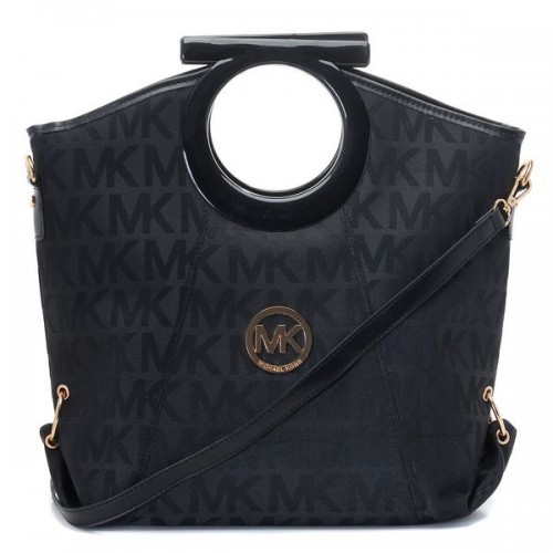 Michael Kors Berkley Logo Large Black Clutches