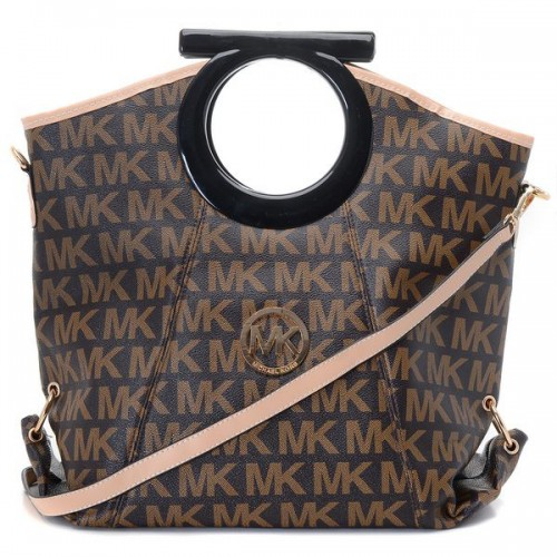 Michael Kors Berkley Logo Large Brown 001 Clutches