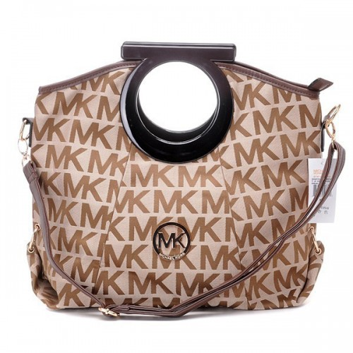 Michael Kors Berkley Logo Large Brown 005 Clutches