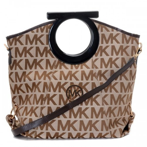 Michael Kors Berkley Logo Large Brown Clutches