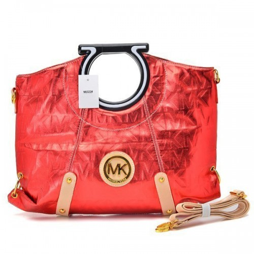 Michael Kors Berkley Logo Large Red Clutches