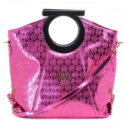 Michael Kors Logo-Print Large Pink Clutches