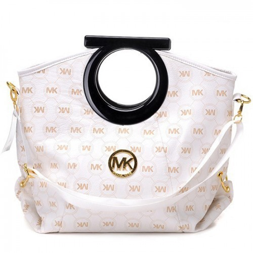 Michael Kors Logo-Print Large White 001 Clutches
