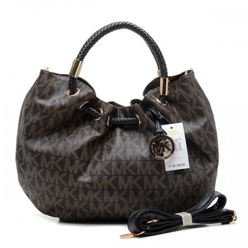 Michael Kors Marina Logo Large Brown Drawstring Bags