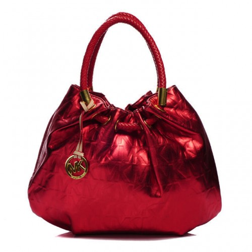 Michael Kors Marina Logo Large Red Drawstring Bags