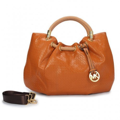 Michael Kors Ring Medium Tan Drawstring Bags