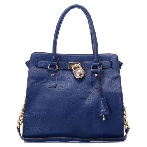 Michael Kors Hamilton Large Tote Navy Leather Colden