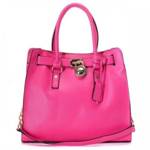 Michael Kors Hamilton Large Tote Rose Red Gloden