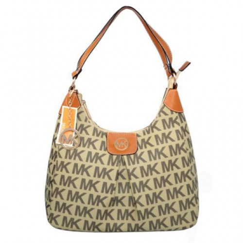 Michael Kors Logo Signature Large Beige Hobo