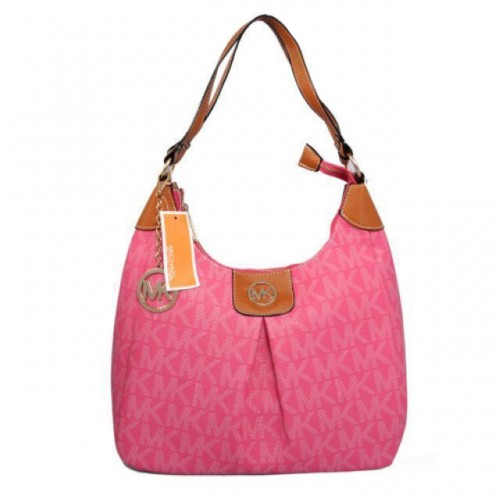 Michael Kors Logo Signature Large Fuchsia Hobo