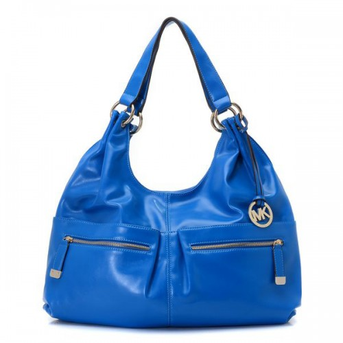 Michael Kors Blake Zip-top Large Blue 001 Hobo