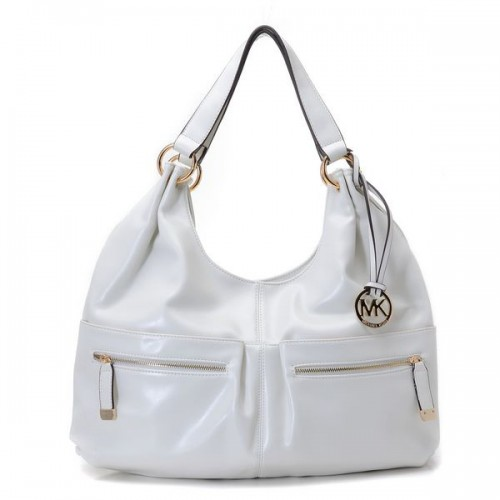 Michael Kors Blake Zip-top Large White Hobo