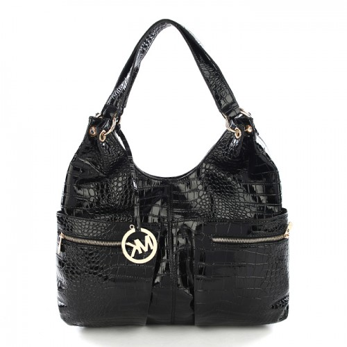 Michael Kors Embossed Large Black Hobo