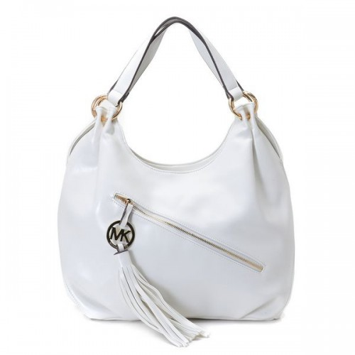 Michael Kors Chain Large White Hobo