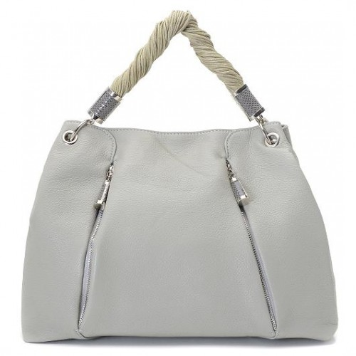 Michael Kors Pearlized Large Grey Hobo