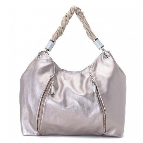 Michael Kors Pearlized Large Silver Hobo