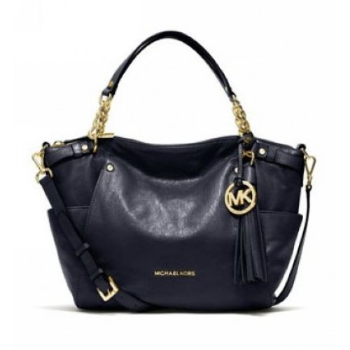 Michael Kors Large Devon Satchel Navy
