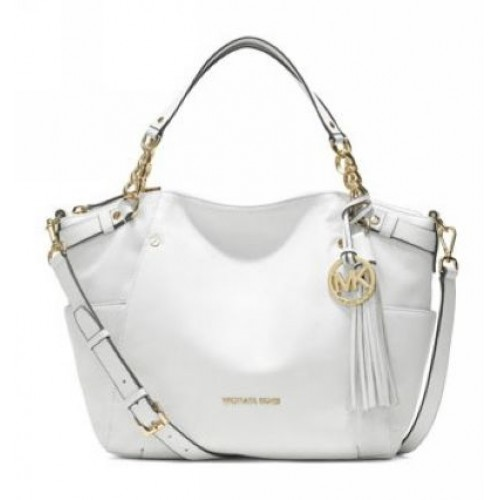 Michael Kors Large Devon Satchel White