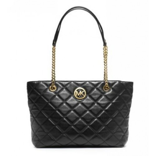 Michael Kors Large Fulton Quilted Tote Black