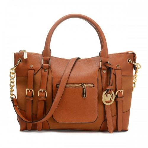 Michael Kors Satchel Mcgraw Leather Large Slim Luggage Bag