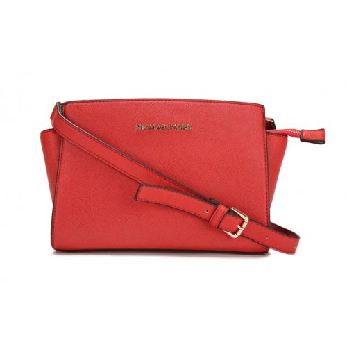 Michael Kors Selma Mini Messenger Red