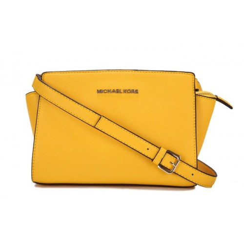 Michael Kors Selma Mini Messenger Yellow