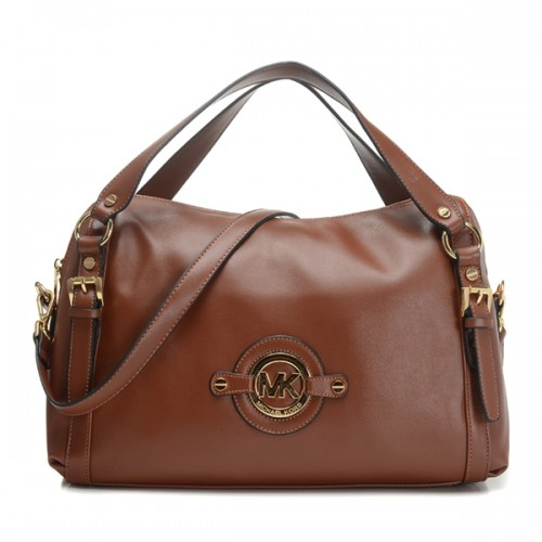 Michael Kors Stockard Medium Shoulder Satchel Coffee