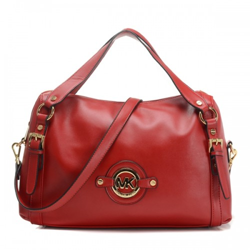 Michael Kors Stockard Medium Shoulder Satchel Red