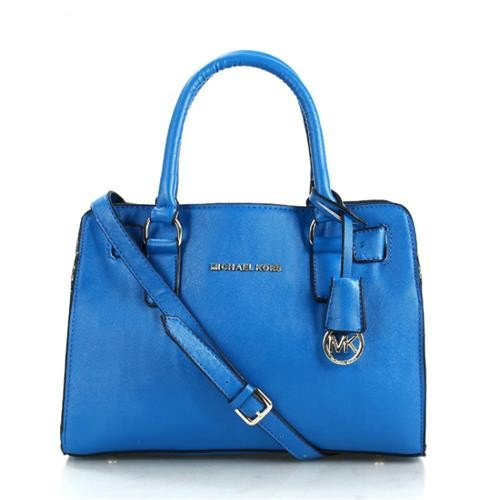 Michael Kors Dillon Medium Blue Satchels