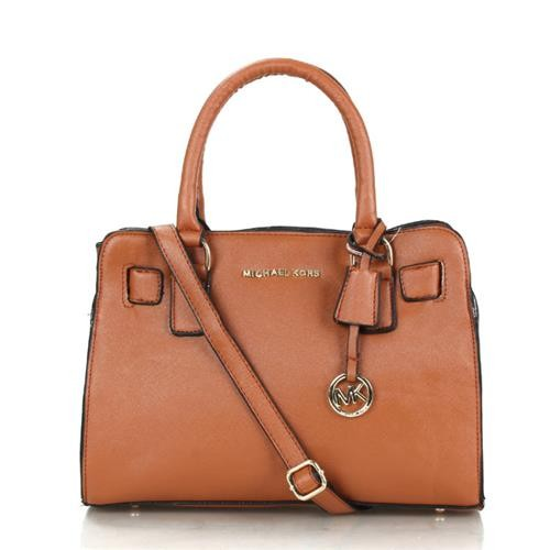 Michael Kors Dillon Medium Brown Satchels